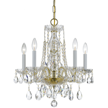 Crystorama 1061-PB-CL-MWP - Crystorama Traditional Crystal 5 Light Clear Crystal Brass Mini Chandelier II
