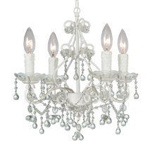 Crystorama 4514-WW-CLEAR - Crystorama Paris Market 4 Light Clear Crystal White Mini Chandelier