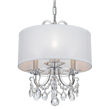 Crystorama 6623-CH-CL-SAQ - Crystorama Othello 3 Light Clear Spectra Crystal Polished Chrome Mini Chandelier