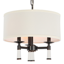 Crystorama 8863-OR - Crystorama Baxter 3 Light Oil Rubbed Bronze Chandelier