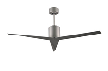 Matthews Fan Company EK-BN-BN - Eliza Three Bladed Paddle Fan in Brushed Nickel With Brushed Nickel Blades.  Wet location.