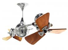 Matthews Fan Company IV-CR-WD - Italo Ventania-Chrome-Wood
