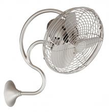 Matthews Fan Company ME-BN - Melody-Brushed Nickel Wall Fan