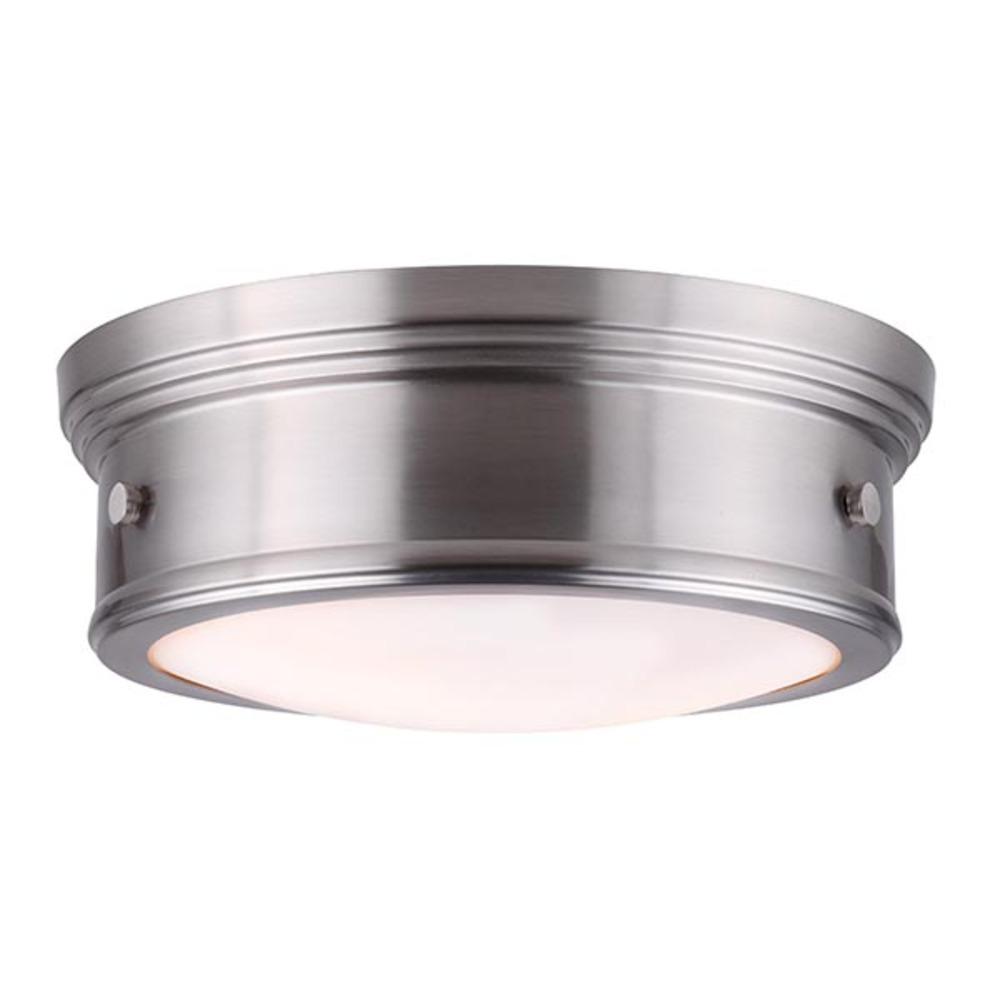 Boku ifm624a13bn 2 lt flush mount flat opal glass 60w type a