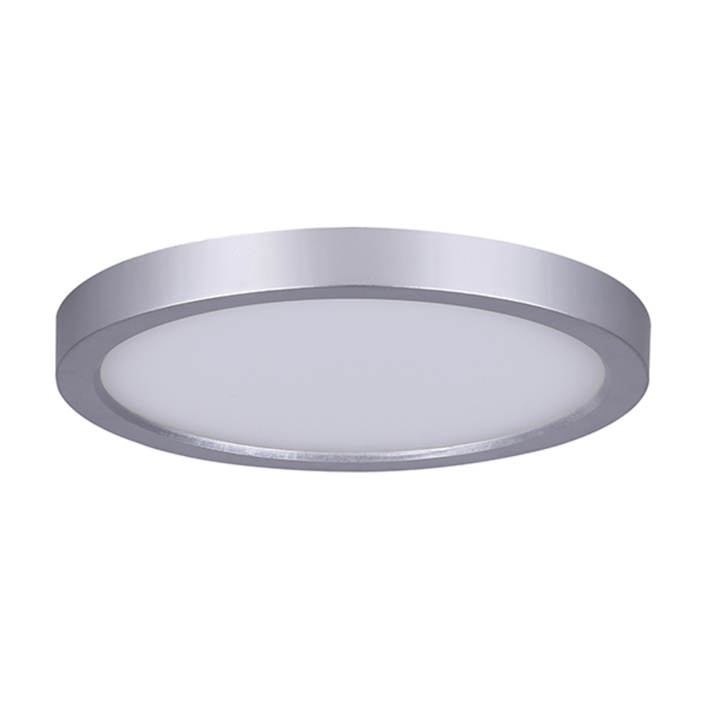 "LED Disk, LED-SM7DL-BN-C, 7"" Painted Brushed Nickel Color Trim, 15W Dimmable, 3000K, 850 Lumen,"