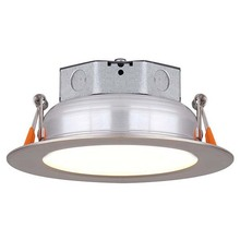 "Canarm LED-SR3P-BN-C - LED Recess Downlight, LED-SR3P-BN-C, 3"" Brushed Nicke Color Trim, 6W Dimmable, 3000K, 400 Lumen,"