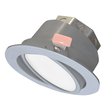 "Canarm LED-SW4P-BN-C - LED Recess Downlight, LED-SW4P-BN-C, 4"" Brushed Nickel Color Gimbal Trim, 10W Dimmable, 3000K, 5"