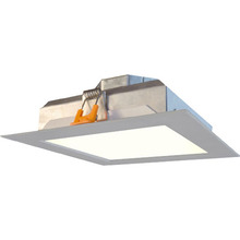 "Canarm LEDS-SR6P-BN-C - LED Recess Square Downlight, LEDS-SR6P-BN-C, 6"" Brushed Nickel Color Trim, 15W Dimmable, 3000K,"