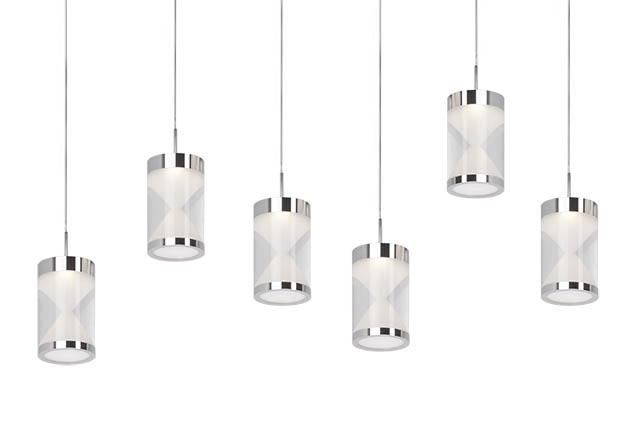modern lighting ottawa. Six LED Pendant Modern Clear Acrylic Cylinder With Interior Frosted Hourglass Design Chrome Can Lighting Ottawa L