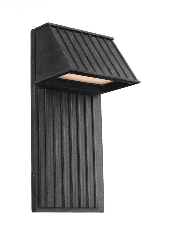 2 light outdoor led wall lantern