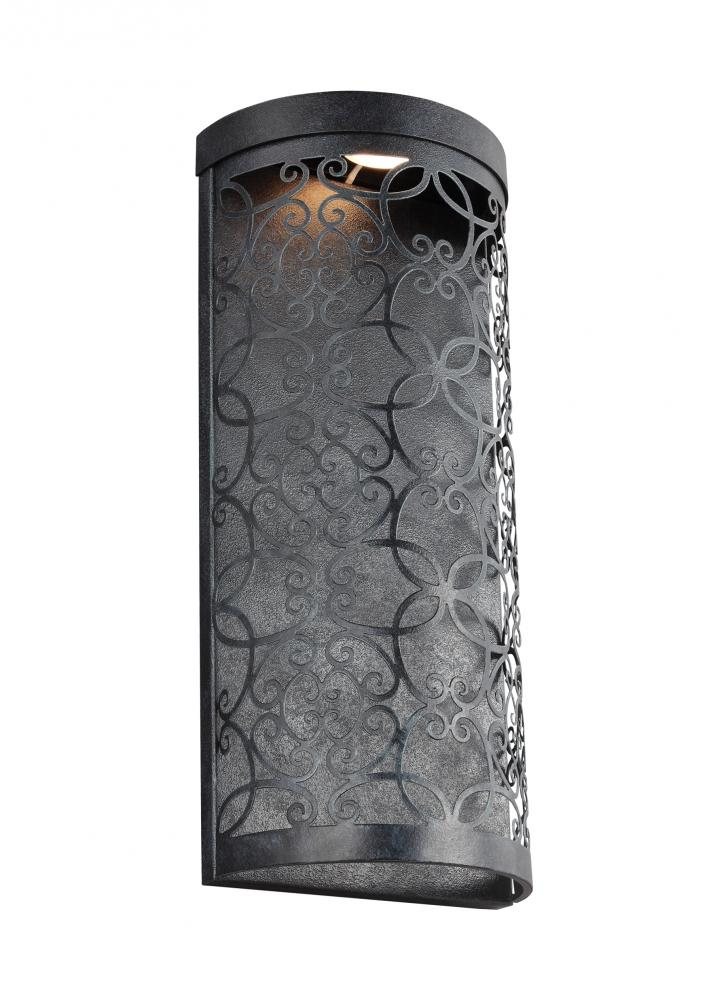 1 light outdoor led wall lantern