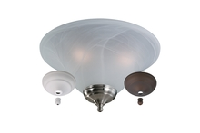 Monte Carlo MC04-L - Bowl Light Kit - White Faux Alabaster