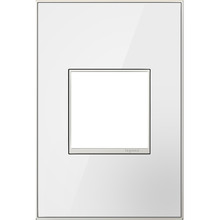 Legrand Canada AWM1G2MWW4 - Mirror White-on-White,  1-Gang Wall Plate