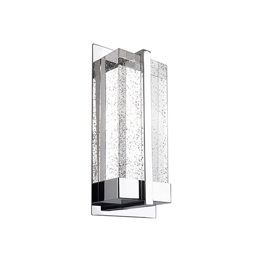Intensive Led Wall Sconce With Clear Bubble Incased Crystal